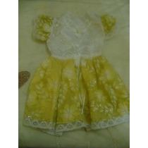 Vestido Para Mascota Perro Amarillo Blanco De Gala Talla 2