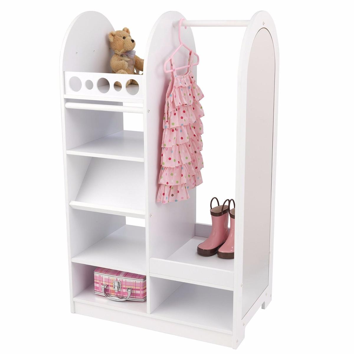 Ropero roperito closet para ni a con espejo kid craft vv4 for Espejo para ver al bebe
