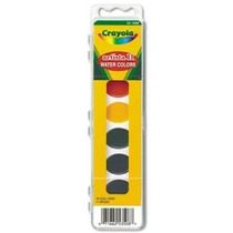 Crayola Artista 8 Semi-húmedo Oval Pans Acuarela Conjunto Co