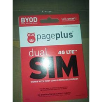 Page Plus Doble Propósito 4g Lte Sim Card Kit Micro Y Regula