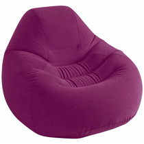 Bolsa De Descanso Sillón Inflable Intex Deluxe Color Uva