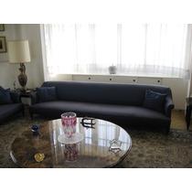 Sofa De 5 Plazas Con Base Y Patas De Caoba