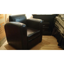 Sillon Club Chair Chocolate Faux Leather