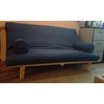 Sofa Cama Futon Matrim.original Tanoshii Nuevo! Base Madera