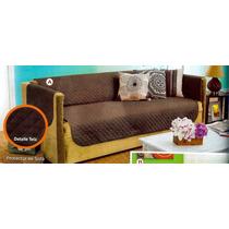 Cubre Sala Protector Doble Vista Café-arena Naranja-chocolat