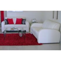 Sala Blanca Moderna 2 Sillones Love Seat Para Casa U Oficina