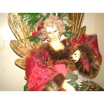 Navidad Adornos Angel Mono De Nieve Bufanda Guantes Sala