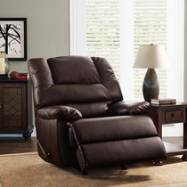 Sillon Reclinable Piel De Lujo Cafe Better Homes Oferta!!