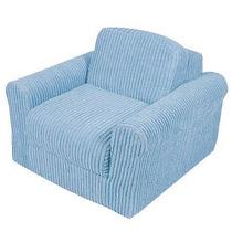 Diversión Mobiliario Chenille Presidente Sleeper - Azul