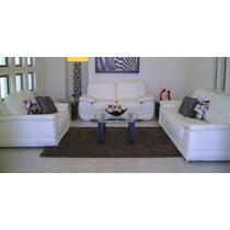 Sala Blanca Muy Grande Sofa Love Y Sillon 3-2-1