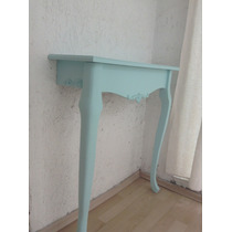Mesa Recibidor Estilo Vintage Color Menta O Blanco Antiguo