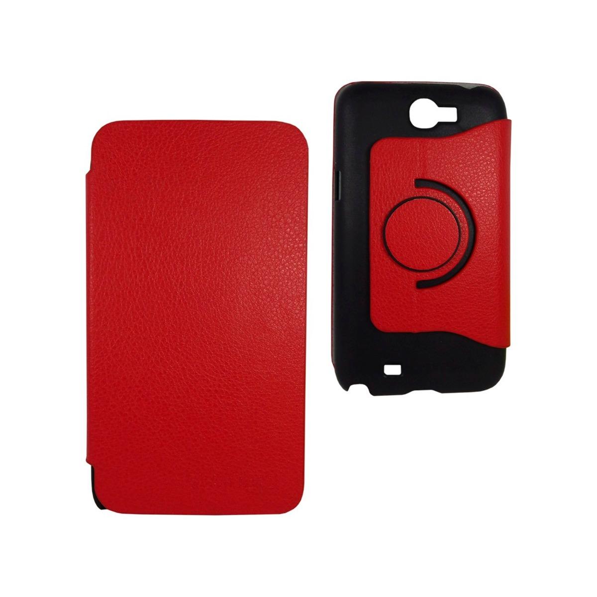 Samsung galaxy note 2 funda giratoria flip cover stand rojo en mercadolibre - Note 2 fundas ...