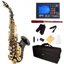 Saxofon Soprano Mendini Lacado En Negro