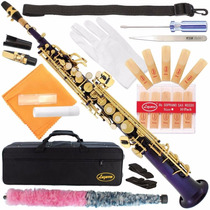 Saxofón Soprano 300-pr-purple/gold Keys Bb Straight