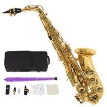 Profesional Alto Eb Sax Saxofón De Oro Con Otros Accesorios