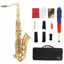 Saxofon Tenor Lade Sax Bb Sib + Estuche + Accesorios Nuevo