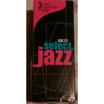 Cañas Rico Jazz Select #3 Hard Y Vandoren Java 3 Sax Tenor