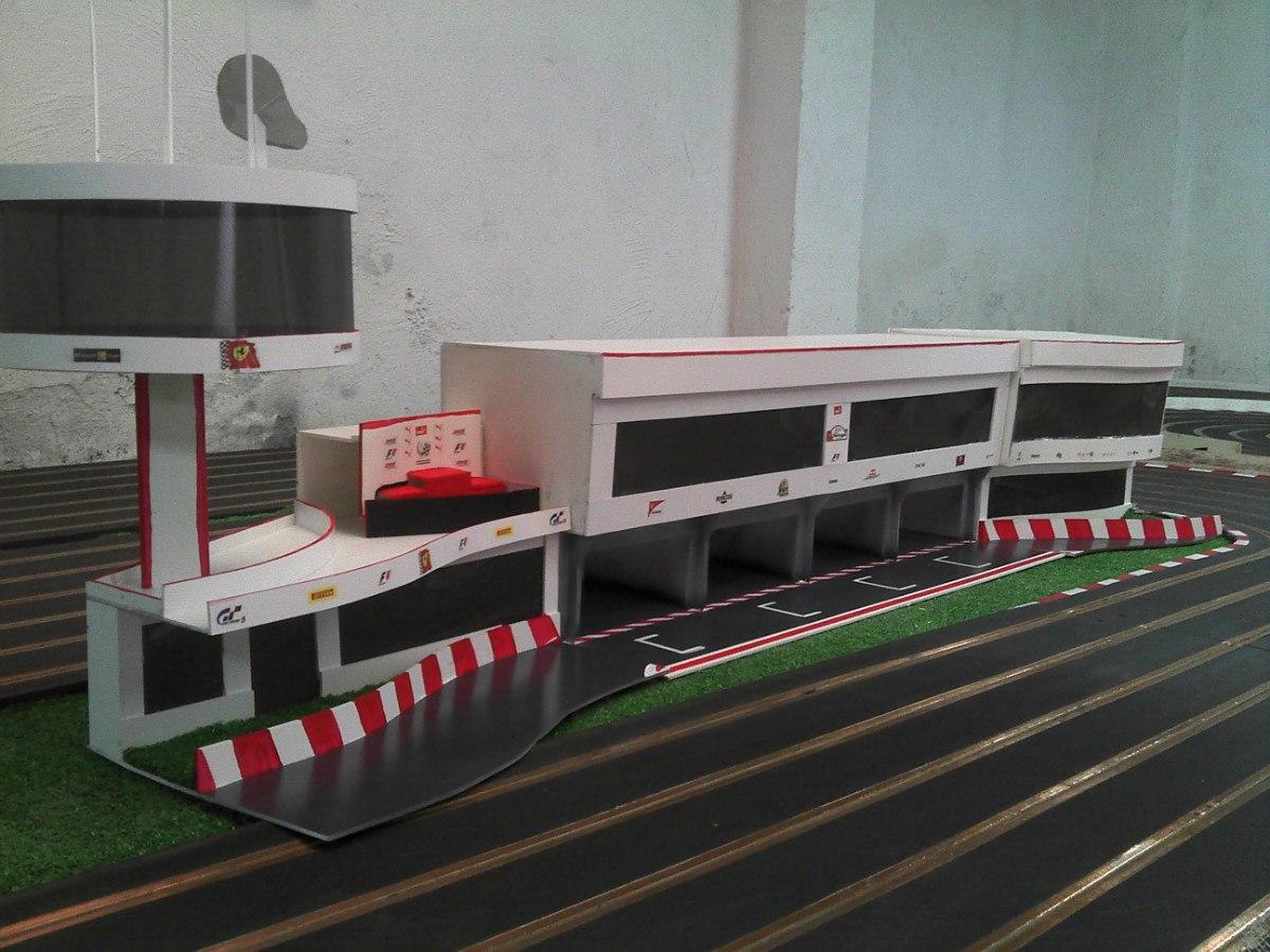 Scalextric decoracion maquetas para pistas slot en mercadolibre - Decoracion scalextric ...