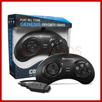 Control Para Sega Genesis Gn6 Alambrico Nuevo 6 Botones