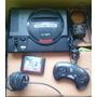 Sega Genesis 16 Bit Con Juego Sonic 2