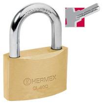Candado De Alta Seguridad Llave De Puntos 60 Mm Hermex 43302