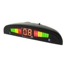 Sensor De Reversa Display Sonido Alarma 4 Puntos Calidad