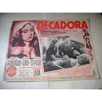 Pecadora Ninon Sevilla Agustin Lara Lobby Card Cartel