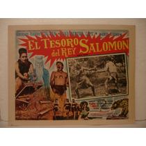 Tin - Tan , El Tesoro Del Rey Salomón , Cartel De Cine