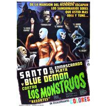 Posters El Santo Blue Demon El Vampiro De Colección 5 X $250