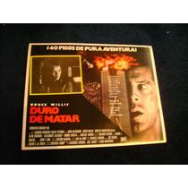 Duro De Matar Bruce Willis Lobby Card Cartel Poster D