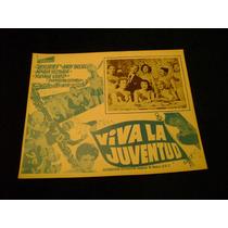 Viva La Juventud Resortes Lobby Card Cartel Cartel Poster B