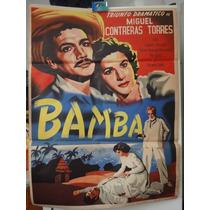 Poster Original Bamba Carmen Montejo Victor Manuel Mendoza