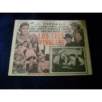 Los Tres Vivales Piporro Lobby Card Cartel Poster