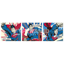 Superman Cartel - - ¿¿tríptico - Pop Art - Midi - 30.5cmx