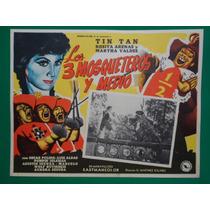 Tin Tan Los Tres Mosqueteros Y Medio Tin-tan Cartel De Cine