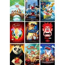 Poster De Cine Ralph Lego Thinker Bell Pitufos Bob Esponja