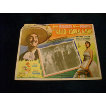 Un Gallo En Corral Ajeno Jorge Negrete Lobby Card Cartel