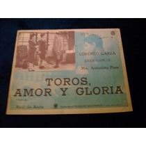 Toros Amor Y Gloria Maria Antonieta Pons Lobby Card Cartel