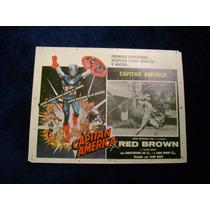 Capitan America Red Brown Lobby Card Cartel Poster D