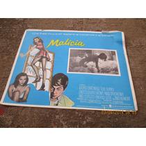 Antiguo Lobby Card Malicia Cartel De Cine!