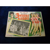3 Viudas Alaegres Amalia Aguilar Rumbera Lobby Card B