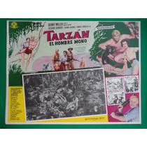 Tarzan El Hombre Mono Denny Miller Original Cartel De Cine
