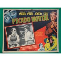 Silvia Pinal Pecado Mortal Isabela Corona Cartel De Cine