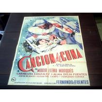 Poster Original Canción De Cuna María Elena Marquez J. Renau