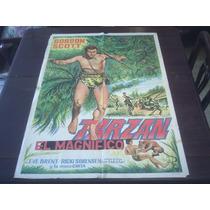Poster Original Tarzan And The Trappers Gordon Scott 1958
