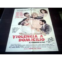 Poster Original El Jardín De La Paz Violencia A Domicilio 90