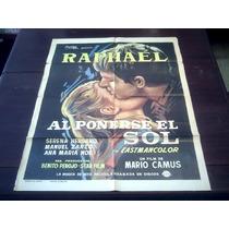 Poster Original Al Ponerse El Sol Raphael Mario Camus 1967