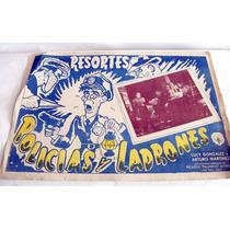 Kcg 2 Lobby Cards Policias Y Ladrones Con Resortes 1956 Hm4