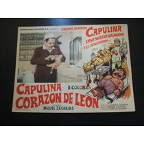 Corazon De Leon Capulina Lobby Card Cartel Poster