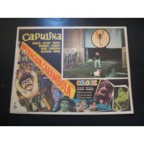 Operacion Carambola Capulina Lobby Card Cartel Poster